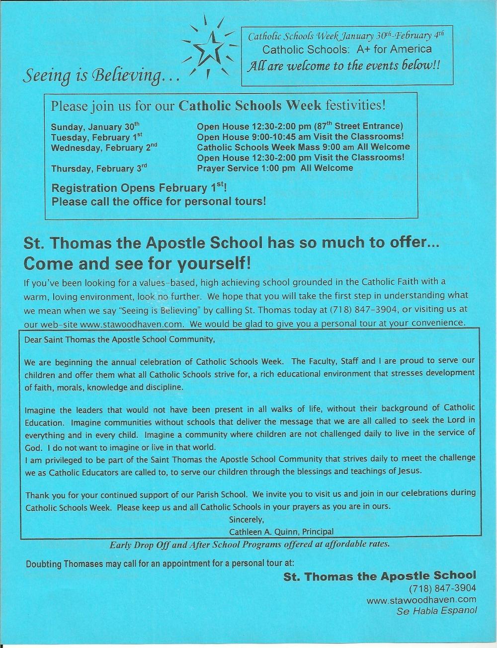 Catholic schools week essay 2011